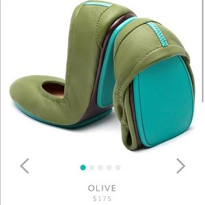 Selling my nearly new olive classic Tieks.